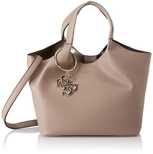 Guess - Flora, Shoppers y bolsos de hombro Mujer, Marrón (Taupe/Tau), 47x25x17.5...
