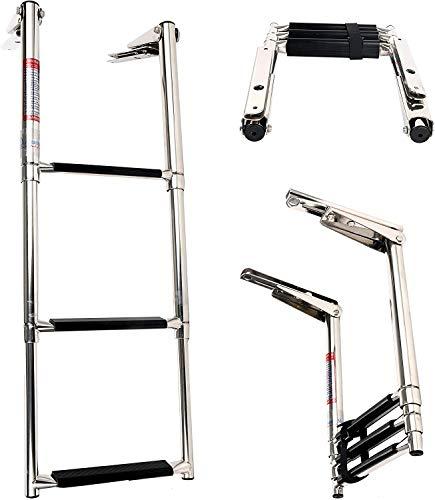 Amarine Made stainless steel boat ladder, non-slip telescope, swimming pool...
