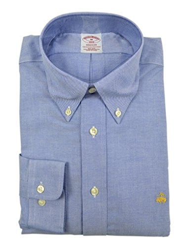 Brooks Brothers Men's Madison Classic Fit Supima Button Down Shirt Chambray Blue Medium
