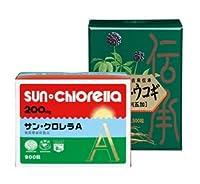 サンクロレラ サン・クロレラA 300粒 1箱 サン・ウコギ 300粒 1箱セット