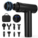 Muscle Massage Gun Deep Tissue for Athletes,Portable Body Neck Back Muscle Massager for Pain Relief with 8 Massage Heads 30 Speed