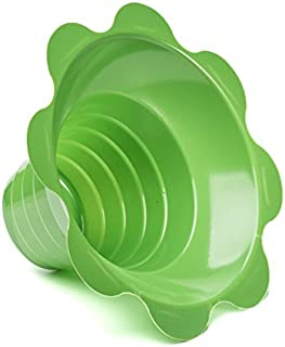 Small Shaved Ice Sno Cone Flower Cups (4 OZ) 250 Count Green