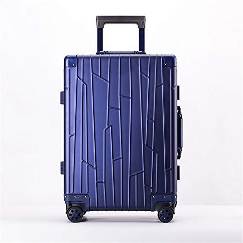 Checked luggage 20 Inch 24 Inch Portable Carry On Luggage Suitcase Aluminum-magnesium Alloy With TSA Locks Trolley Suitcase With Spinner Wheels Business Travel Bag Spinner Hardshell Travel checked lug