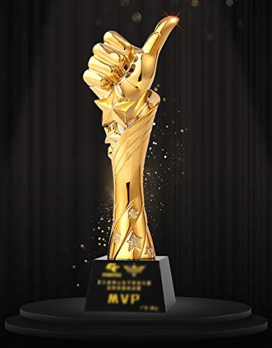 Aangepaste Trofee Sterren Duim Hars Kristal Metalen Trofee Prijzen Souvenir Sport Competitie Partij Viering Muziek Festival Bedrijf Jaarlijkse Vergadering Uitstekende Personeel Ontwerp Lettering