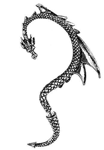 Alchemy Gothic E274L Ohrmanschette, Drachen-Design, für linkes Ohr, Pfelegeanweisungen (evtl. nicht in deutscher Sprache)