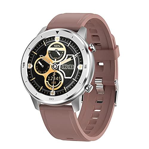Reloj inteligente para hombres y mujeres Smartwatch 13 pulgadas de todas las ruedas pantalla táctil completa podómetro monitor de frecuencia cardíaca Android IOS N Smart pulsera-G