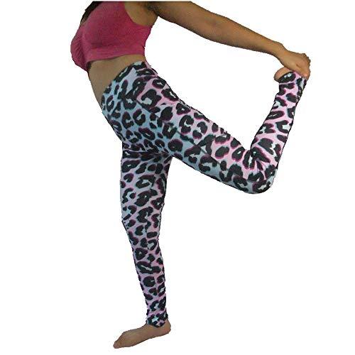 FroMoaSa Legging de yoga con bolsillos para mujeres de talle alto impreso pantalones de yoga para correr gimnasio mallas - - Small