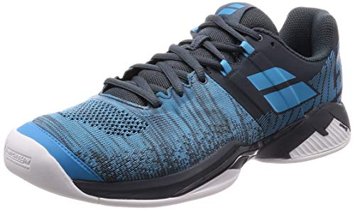 Babolat Herren Propulse Blast Indoor M Tennisschuhe, Grey/Blue, 45 EU