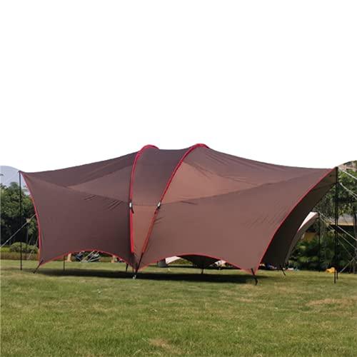 Tienda de Playa Campaña Refugio Carpa con Dosel Varilla Doble de Gran tamaño, protección UV Tienda de campaña al Aire Libre,Brown