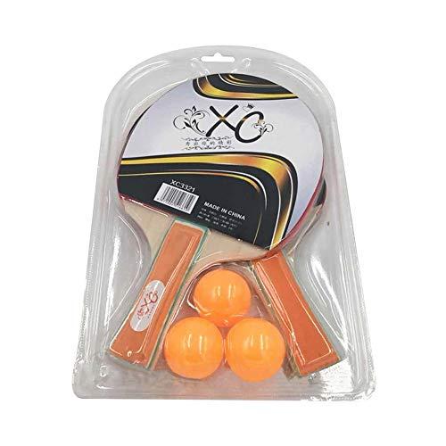 SSINI - Juego de palas de ping-pong con funda para raqueta, para uso en interiores o exteriores
