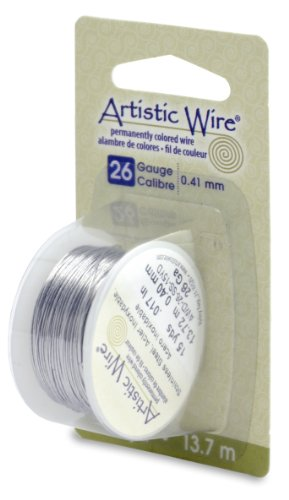 Artistic Wire Beadalon, 26 Gauge, Stainless, 15 yd (13.7 m) Craft Wire, Shiny Steel