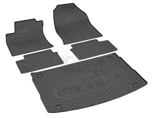 Passende Gummimatten und Kofferraumwanne Set geeignet für Hyundai i30 Hatchback ab 2017 + Gurtschoner