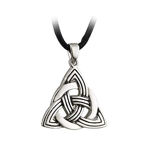 Tara Trinity Knot Necklace Celtic Irish Pewter Style Pendant Made in Ireland