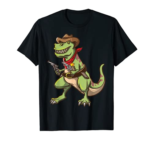 Camisa de dinosaurio de vaquero T Rex para niños, regalo de Wild West Country Camiseta