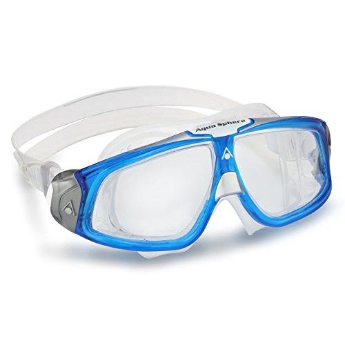 Aqua Sphere 21052Q - Gafas De Natación Unisex, color Azul/Plateado