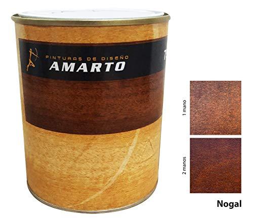 Barniz Tinte al agua en acabado brillante, protege y embellece la madera. (4 L, NOGAL)