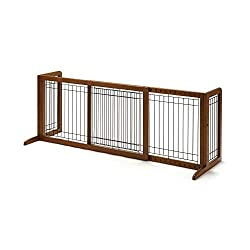 Wooden freestanding dog or cat gate large