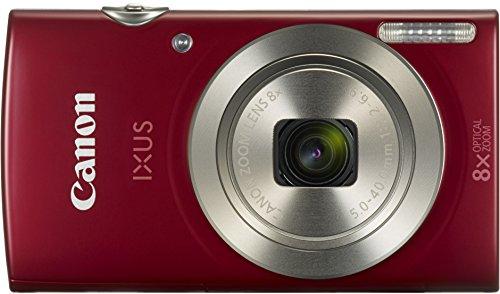 Canon IXUS 175 Kompaktkamera (20 MP, 8-fach optischer Zoom, 16-fach ZoomPlus, 6,8cm (2,7 Zoll) LCD, Taschenformat) rot