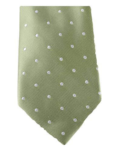 David Van Hagen Vert/Blanc Polka Dot cravate de