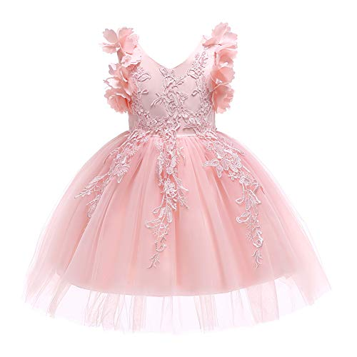Weileenice 2-10 Years Little/Big Girl Sleeveless Lace Dress Kids Christmas Elegant Prom Pageant Ball...