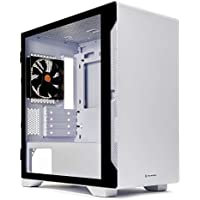 Thermaltake S100 Tempered Glass Snow Edition Micro-ATX Mini-Tower Computer Case (White)