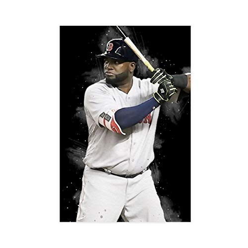 Superstar David Ortiz Baseball Poster 1 Canvas Poster Wall Art Decor Print Picture Paintings for Living Room Bedroom Decoration 12×18inch(30×45cm) Unframe-style1