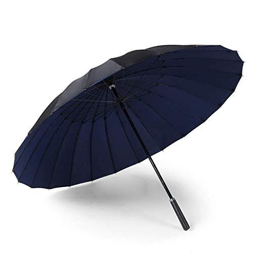 3 Regenschirm Parasol 24 Knochen Double Layer Widerstandsfähigkeit gegen starken Wind Gewitter Blitzschutz Business Regenschirm (Farbe: F, Größe: 116cm)