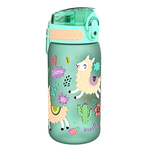 ion8 auslaufsichere Kinder Trinkflasche, BPA-frei, 350ml, Lamas