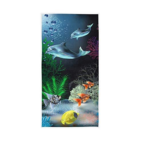 XiangHeFu douchebad handdoek luxe geschenk sterk absorberend Universal Ocean Fish Ultra Soft