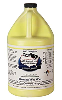 All American Car Care Products Banana Wax - Premium Synthetic Long Lasting Automotive Wax (1 Gallon)