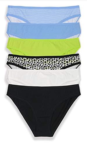 No Boundaries Fashion Pack 1 6 Pair Bikini Panties - Large