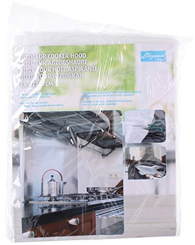 BigDean Filter für Dunstabzugshaube - Aus Vlies - Für viele Standard-Abzugshauben - Filtermatte - Fettfilter zuschneidbar für Küche