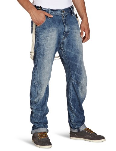G-Star Herren Jeans Normaler Bund ARC 3D Loose Tapered Braces - 50708, Gr. 34/34, Blau (lt Aged t.p. - 30 IN17)