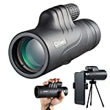 OLIMT 10x42 Monocular Telescope,Handheld HD High Powered Monoculars for Adults,Bak4 Waterproof Monocular for Bird Watching,Hiking,Wildlife,Outdoor Camping,with Smartphone Adapter and Tripod