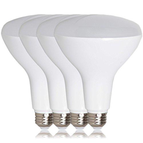 Maxxima BR40 LED Light Bulb, 75 Watt Equivalent Dimmable Bulb, 12 Watt Warm White 1100 Lumens, Flood Light Energy Star, 3000K (Pack of 4)