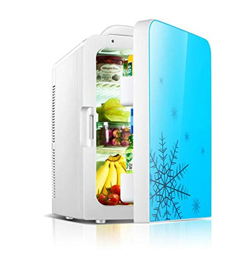 OPRG Mini-kühlschränke, 20 L Auto Kühlschrank Heizung Und Kühlung Elektronischer Haushalt Kleiner Kühlschrank Mini Kleiner Kühlschrank,Blue