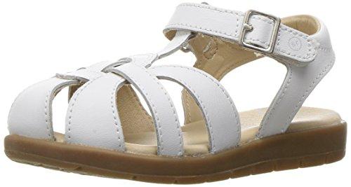 Stride Rite girls Summer Time Sandal (Toddler/Little Kid),White,12 M US Little Kid