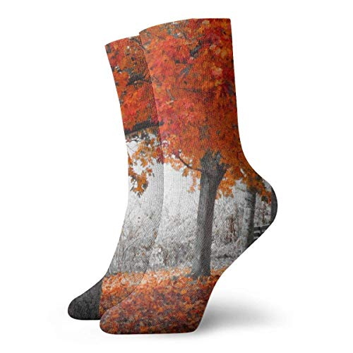 Warm-Breeze Maple Mangrove Compression Socks Unisex Socks Fun Fun Crew Socks Thin Socks Short Ankle For Outdoor Athletic Moisture Wicking