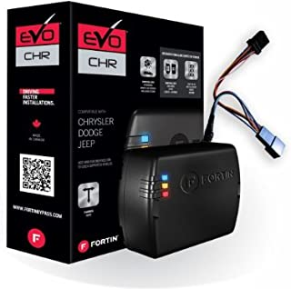 Fortin EVO-CHRT6 Stand-Alone Add-On Remote Start Car Starter System For Chrysler Dodge Jeep Fobik Smart Key And Push-To-Start Vehicles