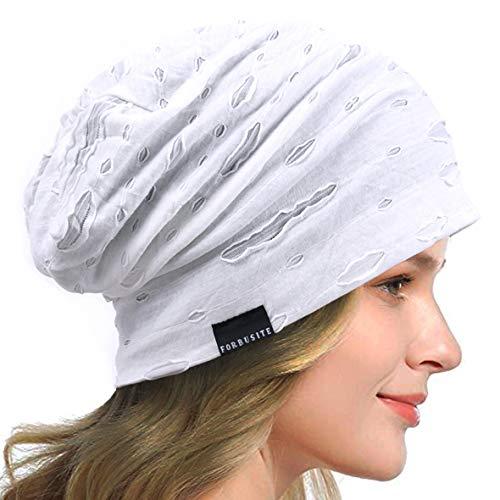 HISSHE, berretto estivo da donna, sottile, con imbottitura morbida, leggero H bianco. Taglia unica