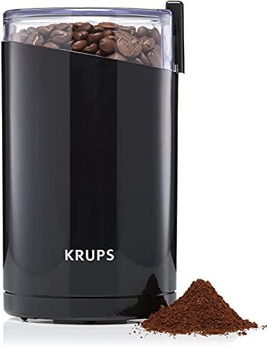 Krups Elektrische Kaffeemühle, Kaffeebohnen Nüsse Gewürze Getreide Mühle mit Edelstahl Schlagmesser 75g Fassungsvermögen, 200W, Schwarz