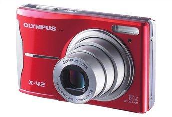 Olympus Digitalkamera X-42 Megapixel 12;Zoom (optisch / digital): 5-facher / 4-fach; Displaygröße (Zoll / cm): 2,7 /6,9