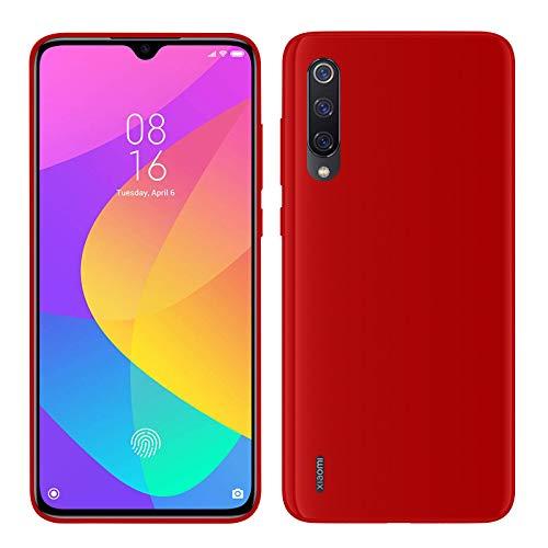 TBOC Funda de Gel TPU Roja para Xiaomi Mi 9 Lite [6.39 Pulgadas] Carcasa de Silicona Ultrafina y Flexible para Teléfono Móvil [No es Compatible con Xiaomi Mi 9]