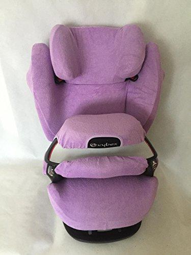 Sommerbezug Schonbezug für Cybex Pallas M und S + M- und S-Fix Frottee 100% Baumwolle lila