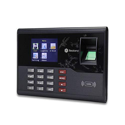 Hdliang 2.8 pulgadas Sistema biométrico de asistencia con huellas dactilares Tarjeta...