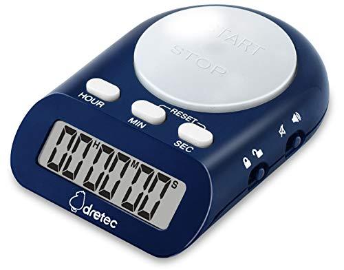 Web限定カラー ドリテック 学習タイマー 消音 光 最大セット時間199時間59分59秒 ネイビー T-401NVDI