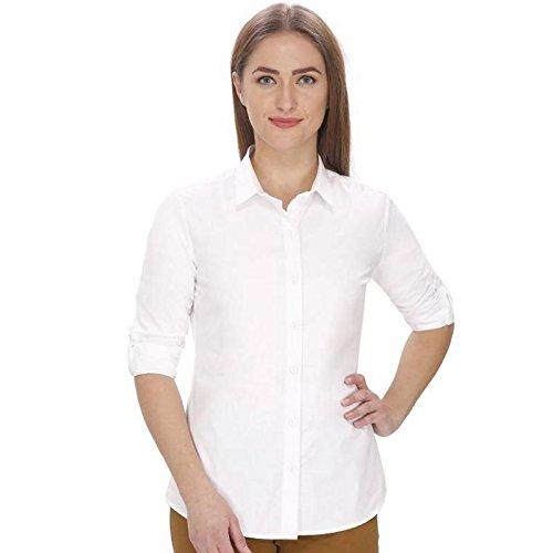 4dc5b4a30dc3f Fashion205 Women s Solid Rayon Shirt (FV SH 2005 WHT M