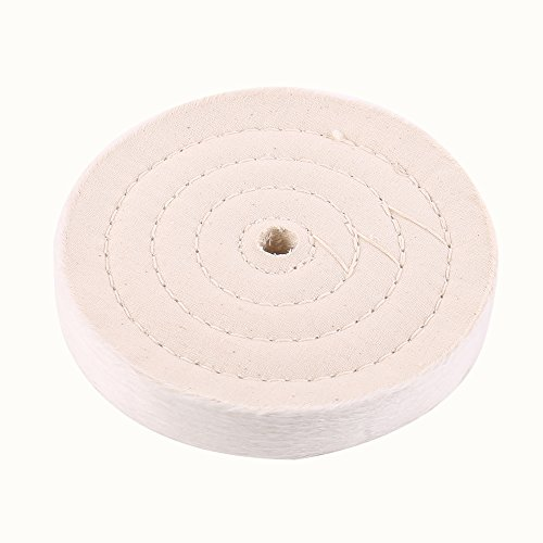 SCOTTCHEN Extra Thick Buffing Polishing Wheel 6 inch (70 Ply) For Bench grinder Tool With 1/2