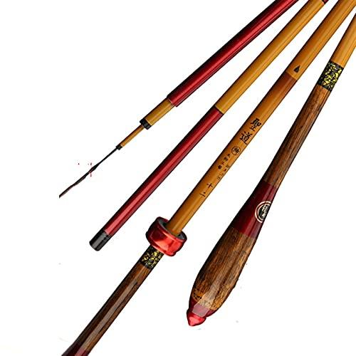 NGHSDO CañAs De Pescar Harra de 8 Tonos 6,3 m 3,9 m 2.7 m Alto Imitación de Carbono BAMBO DE Pesca DE BAMBO Handfeel Light Barra de Pescar Dura CañA De Pescar (Length : 4.5 m)