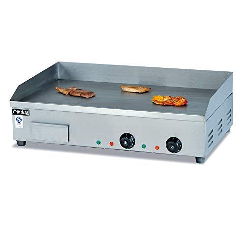 Gastronomie Grillplatte Griddleplatte Griddle Grillplatte Tischgrill (4400 W, 73x50 cm, 50-300°C, Gehäuse aus Edelstahl) Elektrogrill